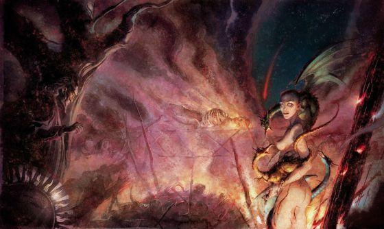 Ilustración de Enrique Corominas para el segundo tomo de 'Juego de tronos'.