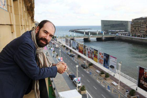 El cineasta Jaime Rosales, en el festival de cine de San Sebastián.