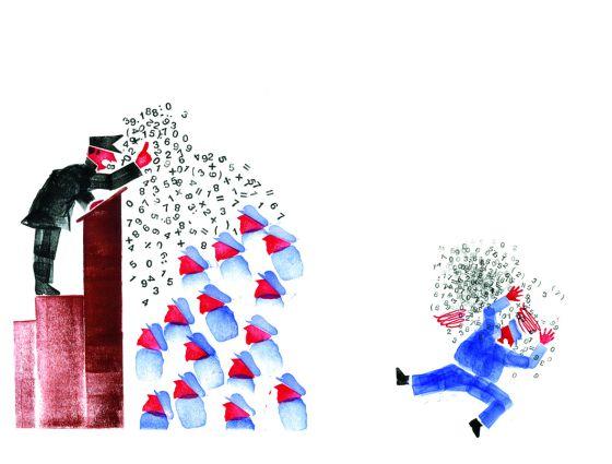 Ilustración de Ronan de Calan en 'El fantasma de Karl Marx', de Donatien Mary (errata naturae).