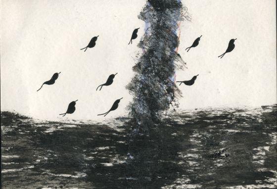 'Ciclón', uno de los dibujos del poeta José Miguel Ullán.