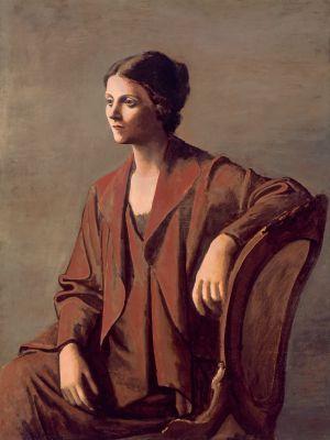 Pablo Picasso, Olga Picasso, 1923, Öl auf Leinwand, 130 x 97 cm, Privatsammlung. © Succession Picasso | VG Bild-Kunst, Bonn 2012
