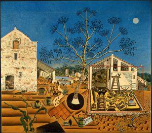 'La Masía' (1921-1922), obra que perteneció a Ernest Hemingway y que forma parte de la colección presentada en Washington.