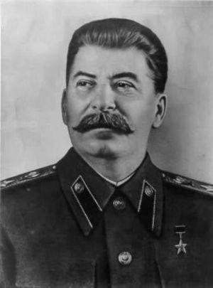 Un retrato oficial de Stalin