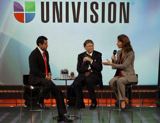 Bill Gates en uno de los programas de Univision.