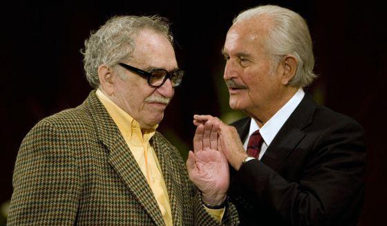 Fuentes, con García Márquez en la UNAM en 2008
