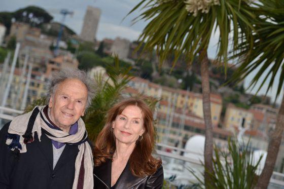 Los actores franceses Jean-Louis Trintignant e Isabelle Huppert, en la presentación de 'Amor', de Michael Haneke.