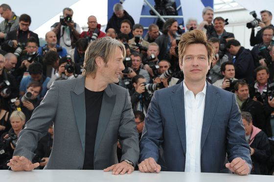 El actor Mads Mikkelsen y el director Thomas Vinterberg