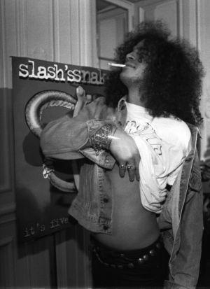 Slash en Madrid, en una imagen de 1995