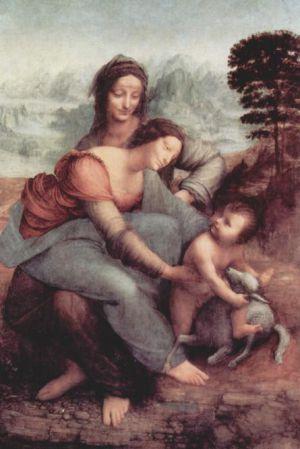 La Virgen, el niño Jesús y Santa Ana, de Leonardo da Vinci.