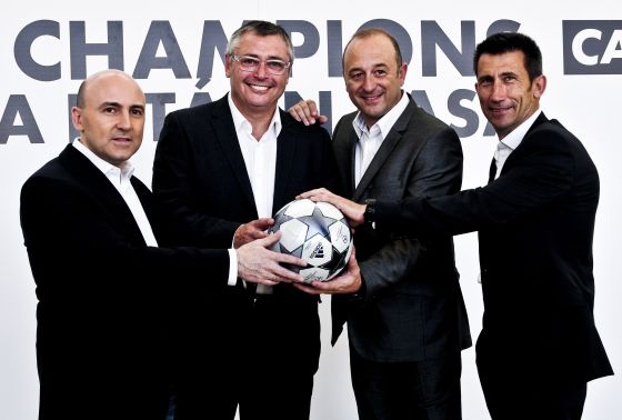 Julio Maldonado 'Maldini', Michael Robinson, Nacho Aranda y Carlos Martínez.