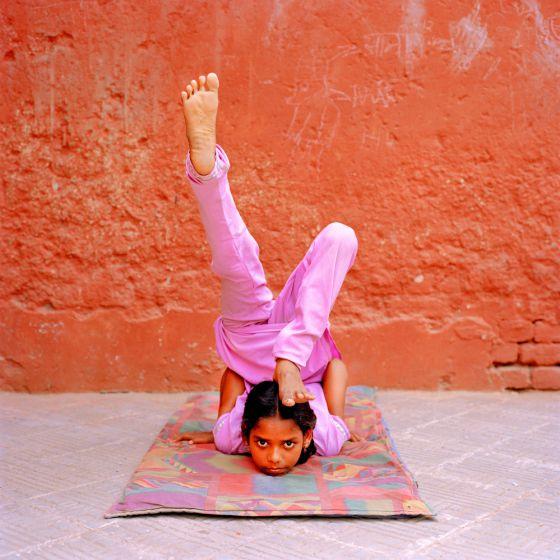 Joven rajastaní en un suburbio de Nueva Delhi.