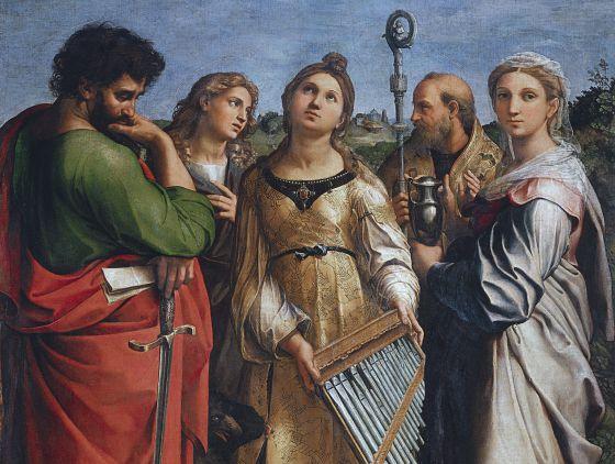 'Santa Cecilia', una de las piezas más interesantes de la exposición