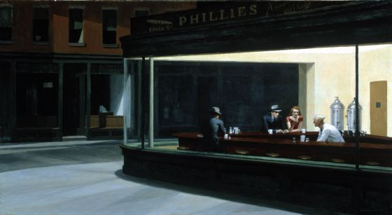 'Nighthwaks', del pintor norteamericano Edward Hopper. / AFP