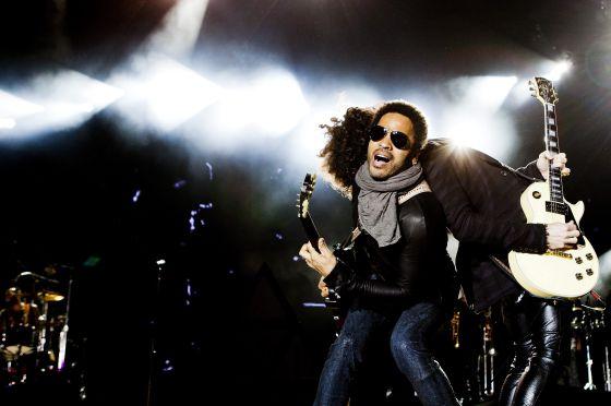 El músico estadounidense Lenny Kravitz, durante su actuación en Rock in Rio Lisboa.