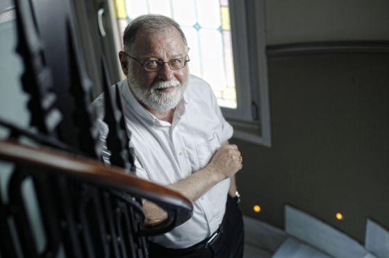 El escritor argentino Alberto Manguel, la semana pasada en Madrid.