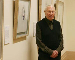 Louis le Brocquy en 2006, durante la celebración de su 90 cumpleaños en la Galería Nacional de Irlanda.