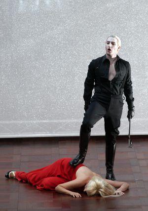 Nadja Michael (Poppea) y Charles Castronovo (Nerone)
