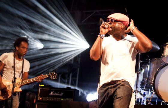 Actuación de The Roots, ayer por la noche en el Sónar.