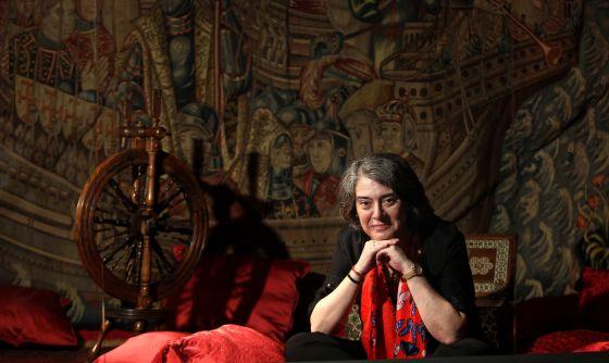 Matilde Asensi, en el Museo Naval, en el ambiente de su última novela.