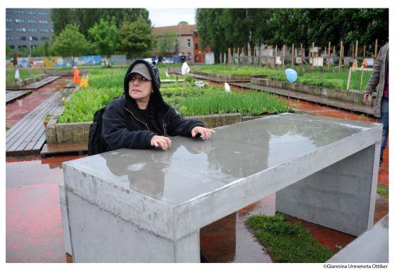 La artista mexicana Teresa Margolles, en Gante.