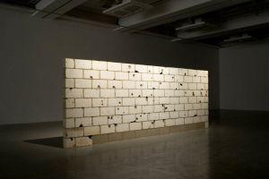 'Muro baleado', de Teresa Margolles.