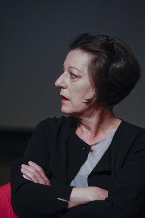 Herta Müller durante su visita al CCCB.