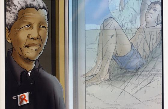 Reproducción del libro 'Nelson Mandela el cómic autorizado', con prólogo de Nelson Mandela.