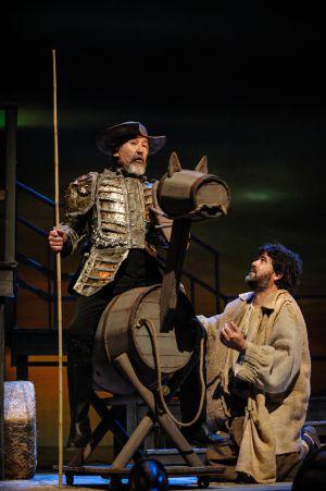 Un momento de la representación de 'Yo soy Don Quijote de la Mancha'