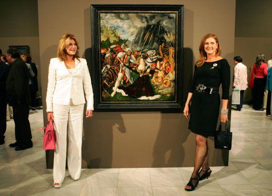 La baronesa y Francesca Thyssen, juntas en 2007 durante una exposición en Madrid.