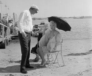 Con el director Billy Wilder en 1958