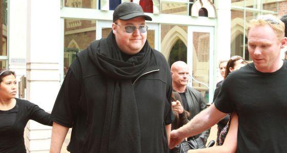 Dotcom, tras comparecer en el Supremo de Auckland (Nueva Zelanda) en febrero.