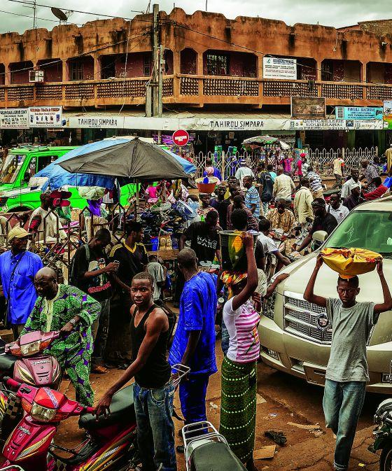 La vida cotidiana en Bamako, capital de Mali.