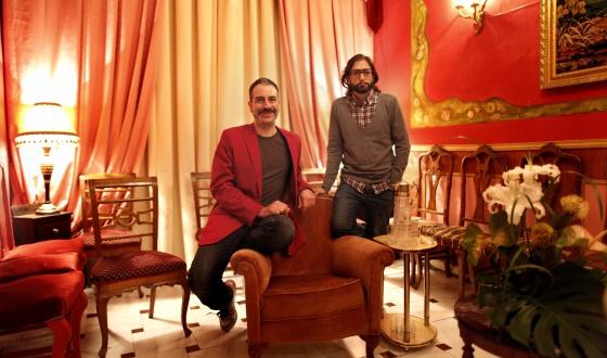Los directores Alberto Puraenvidia y José Martret (con gafas).