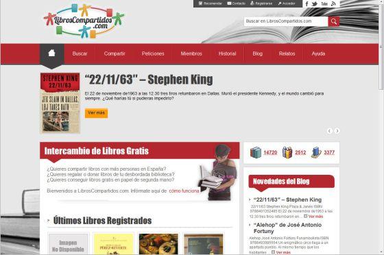 La web de LibrosCompartidos.