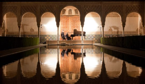 Juegos De Baño Quimico:Concierto de Tabea Zimmermann y Silke Avenhaus en la Alhambra / M
