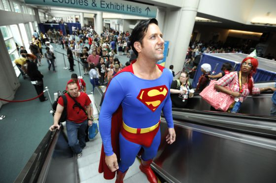 El actor Trey Moore vestido de Superman en la Comic-Con