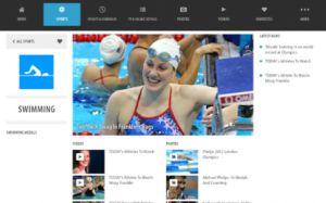 La aplicación exclusiva de NBC para iPad, donde retransmitirá todas las competiciones en directo.
