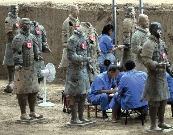 Trabajos de catalogación de los nuevos guerreros