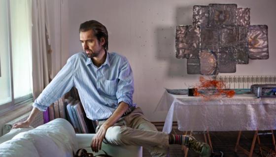 Daniel Canogar en su estudio de Madrid.