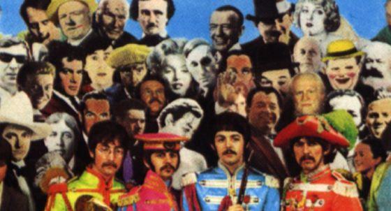 Marilyn Monroe entre los personajes que aparecen en la portada de Sgt Pepper's de los Beatles