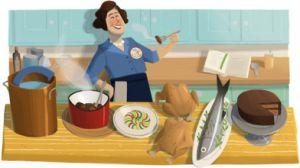 Homenaje de Google a Julia Child el 15 de agosto por el centenario del nacimiento de la famosa cocinera estadounidense.