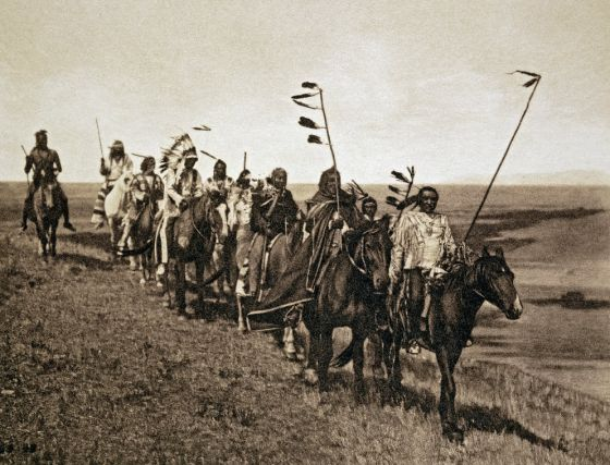 Miembros de una tribu de indios americanos
