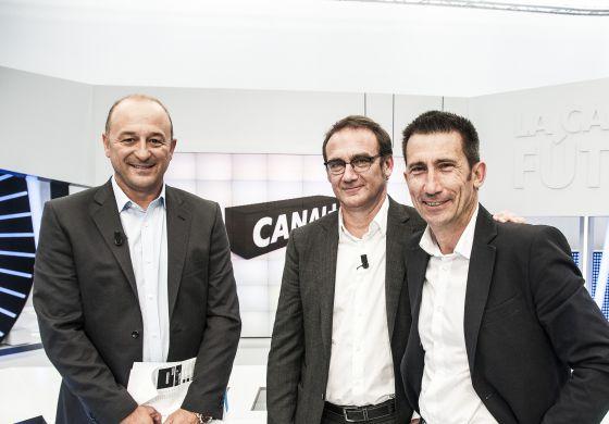 (De izda. a dcha.) Nacho Aranda, Álex Martínez y Carlos Martínez.