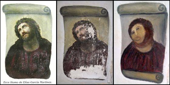 'Ecce Homo' pintado por el artista Elías García Martínez