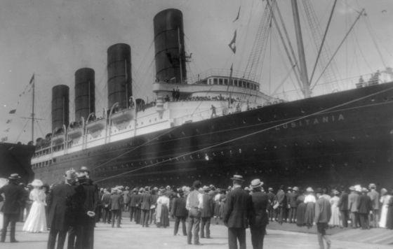 Imagen de archivo del 'Lusitania'.