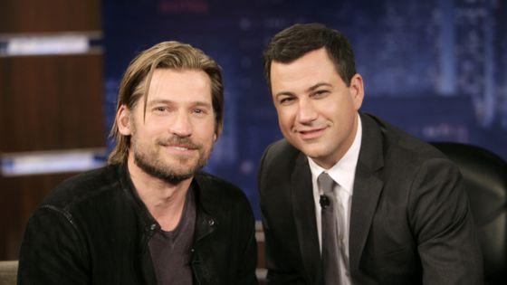 Nikolaj Coster-Waldau, protagonista de 'Juego de tronos', y Jimmy Kimmel