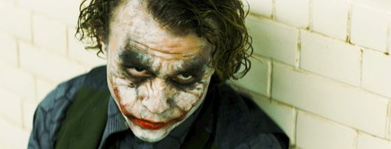 Heath Ledger como The Joker en 'El caballero oscuro'