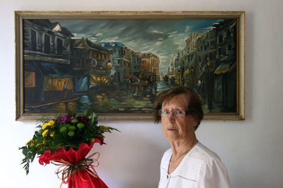 Cecilia Giménez, autora de la restuaración del eccehomo.