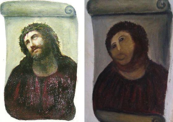 El antes y el después del eccehomo de Borja.