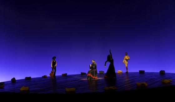 Una escena de Ay, amor, que se estrena el viernes en el teatro de la Zarzuela.